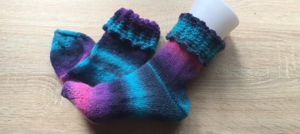 Socken mit Umschlag