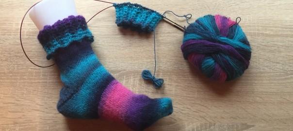 Socken mit Umschlagbündchen