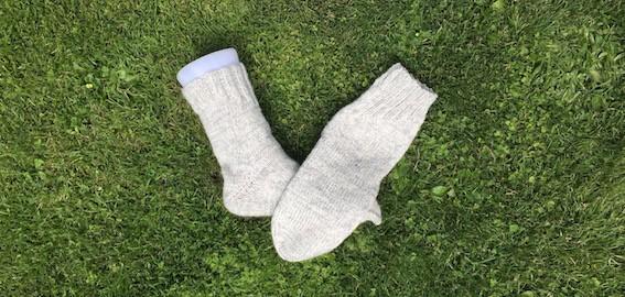 Socken mit doppeltem Faden